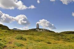 Alpinistmonument från Carpathians Royaltyfri Fotografi