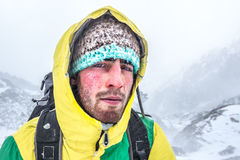 Alpinistporträt stockfoto