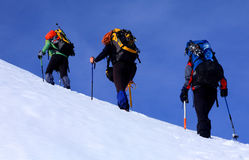 Alpinists Royalty Free Stock Images