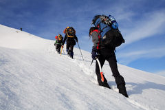Alpinists stock image