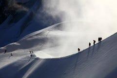 alpinists Arkivbilder