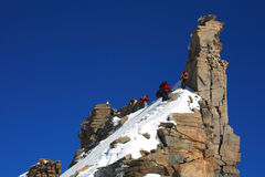 Alpinists Stock Photography