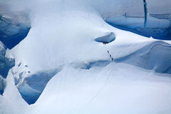 Alpinists on a glacier Stock Images