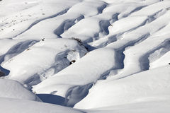 Alpino nella neve Fotografia Stock