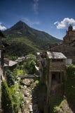 Alpint berg på Tende Arkivbilder