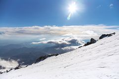 Alpint berglandskap Royaltyfri Fotografi