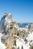 Alpint kapell och panorama III Royaltyfri Fotografi