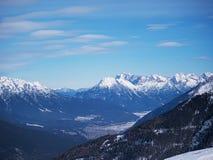 Alpint landskap Europa för berg Arkivbild