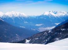 Alpint landskap för berg Royaltyfri Foto