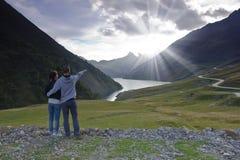 Alpint landskap, Frankrike Arkivfoto
