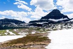 Alpint landskap i glaciärnationalparken, USA royaltyfri bild