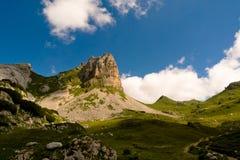 Alpint landskap med det Rossköpfe berget, Österrike Royaltyfria Foton