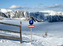 alpint skida lutningen Royaltyfri Fotografi