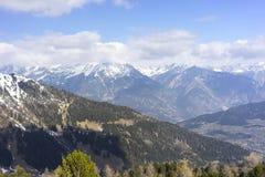 Alpint skidar semesterorten Serfaus Fiss Ladis i Österrike Royaltyfria Foton