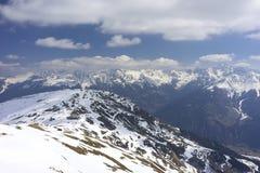 Alpint skidar semesterorten Serfaus Fiss Ladis i Österrike Arkivfoton