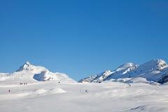 Alpint strosa för vinter Arkivfoton