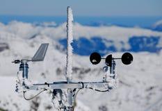 alpint väder för meteorological station Royaltyfri Fotografi