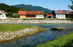 Alpive Stadt Stockfotografie