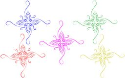 Abstract colorful ornamental design elements with white background stock illustration