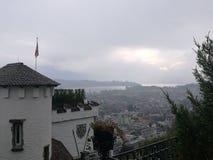 Alps湖全景 免版税库存图片