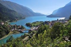 Alps湖在意大利 免版税库存图片