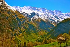 alps швейцарские Стоковое Изображение RF