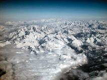 Alps. The european alsp seen from a plane Royalty Free Stock Image