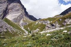 Alps. Beautiful Alpine landscape of Hohe Tauern National Park in Austria Royalty Free Stock Photography