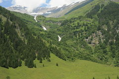 The Alps 2. Austrian Alps view with glacier Royalty Free Stock Image