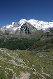 Alps. Walking toward Rifugio degli Angeli at Valgrisenche-Italy, you can enjoy these beautiful landscape Stock Photo