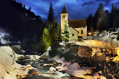 Alps. Silent night in Alps Austria Stock Photo