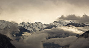 Alps. A view of Clouds and Italian Alps Stock Photos