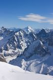 The Alps. View from Aiguille du Midi peak Stock Images