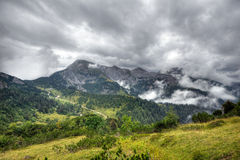 Alps. Mountain range in Germany a day of heavy clouds Stock Photo