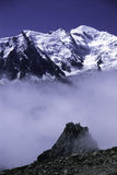 Alps. MontBlanc with three layers Stock Photography