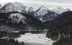 The Alps. In Schwangau, Germany Royalty Free Stock Images