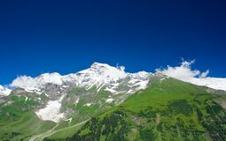 Alps. Mountains view in Alps, in a sunny day Royalty Free Stock Photo