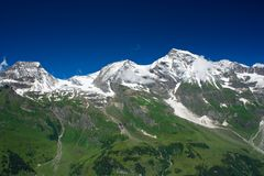 Alps. Mountains view in Alps, in a sunny day Royalty Free Stock Photos
