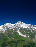 Alps. Mountains view in Alps, in a sunny day Stock Photos