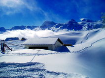 The Alps. Picture taken in the rough Alps in Austria Stock Photo