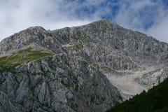 Alps. Massive of rocks in slovenian alps Royalty Free Stock Photo
