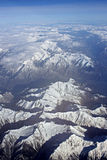 Alps. Aerial view from the Alps mountains royalty free stock photo