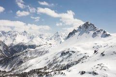 The Alps. Seen from Bernina Pass in Switzerland Stock Photo