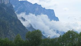 Alps above the clouds Royalty Free Stock Photo