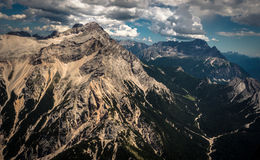 Alps aerial photo stock images