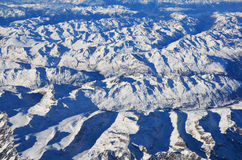 Alps. Aerial photograph of Royalty Free Stock Images