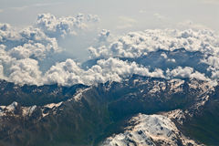 Alps aerial view Stock Photo