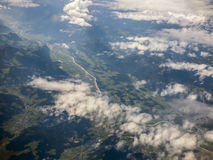 Alps from aerial view Stock Images