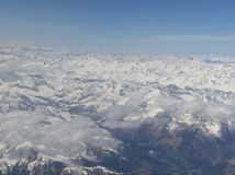 Alps Aerial view Royalty Free Stock Photography