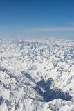 Alps Aerial view Royalty Free Stock Photo
